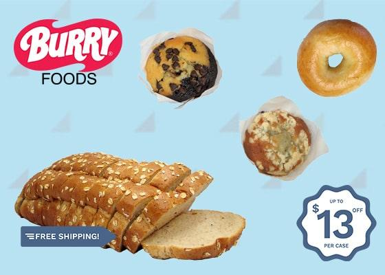 SAVE ON SELECT BURRY'S BAKED GOODS