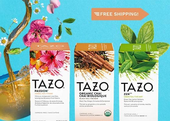 BUY ONE, GET ONE FREE WITH TAZO TEA