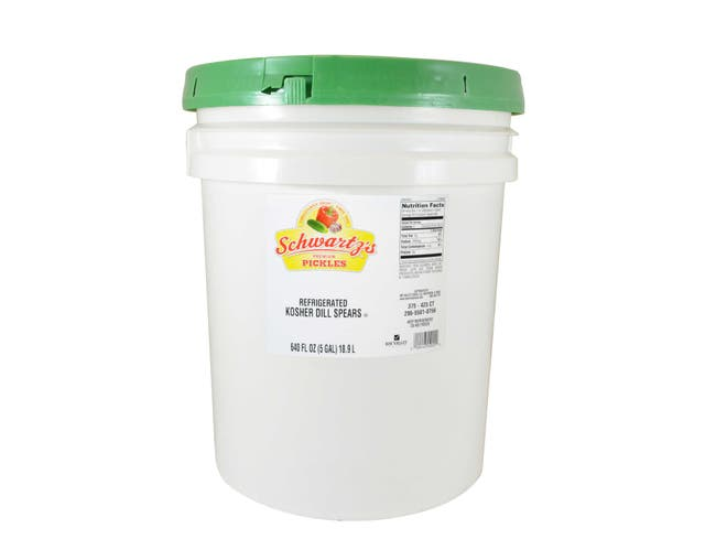 Bay Valley Foods 500B Kosher Spear Dill Pickle, 5 Gallon -- 1 each.