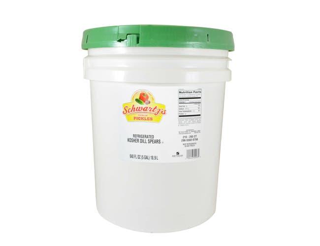 Bay Valley Foods Premium Schwartzs Label Kosher Spear Dill Pickle, 5 Gallon -- 1 each.