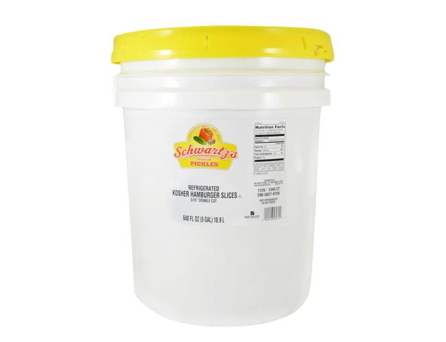 Bay Valley Foods 827 Kosher 5/16 Cross Cut Dill Pickle, 5 Gallon -- 1 each.