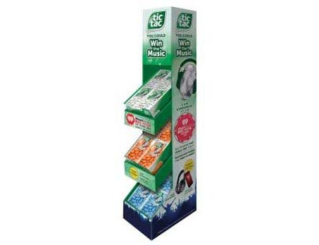 Tic Tac Singles Mixed Mints Candy - Summer Music Floorstand -- 36 per case.