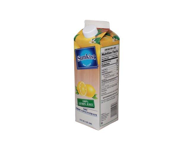 Sunkist Lemon Juice, 32 Fluid Ounce -- 12 per case.