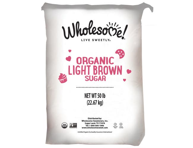 Wholesome Sweeteners Organic Light Brown Sugar, 50 Pound -- 1 each.