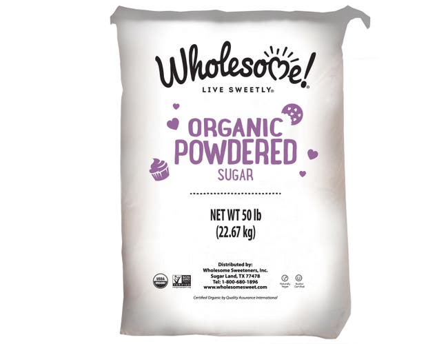 Wholesome Sweeteners Organic Powdered Sugar, 50 Pound -- 1 each.