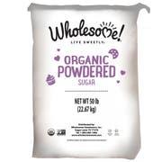 Wholesome Sweeteners Organic Powder Sugar, 50 Pound -- 1 each.