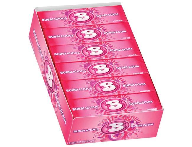 Bubblicious Bubble Gum - 5 piece pack, 144 per case