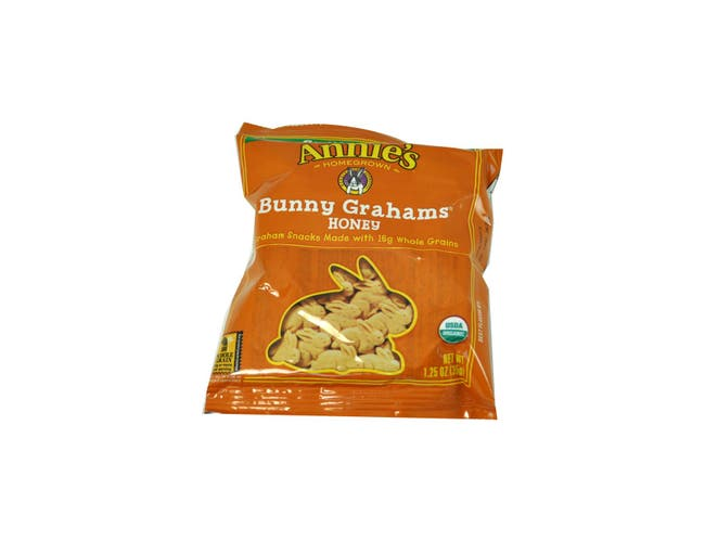 Annies Organic Honey Bunny Grahams Snack, 1.25 Ounce -- 100 per case.