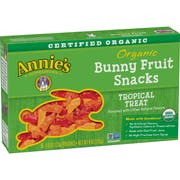 Annies Organic Tropical Treat Bunny Fruit Snack, 4 Ounce -- 10 per case.