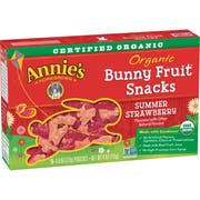 Annies Organic Summer Strawberry Bunny Fruit Snack, 4 Ounce -- 10 per case.