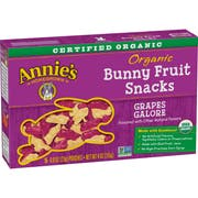 Annies Organic Grapes Galore Bunny Fruit Snack, 4 Ounce -- 10 per case.