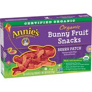 Annies Organic Berry Patch Bunny Fruit Snacks, 4 Ounce -- 10 per case.