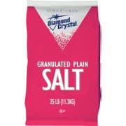 Diamond Crystal Plain Granulated Salt - 25 lb. bag, 1 per case