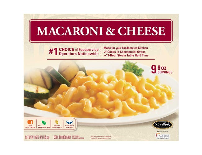 Stouffers Macaroni and Cheese, 76 Ounce -- 6 per case.