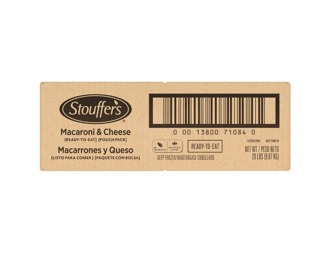 Stouffers Ready to Eat Macaroni and Cheese, 5 Pound -- 4 per case.