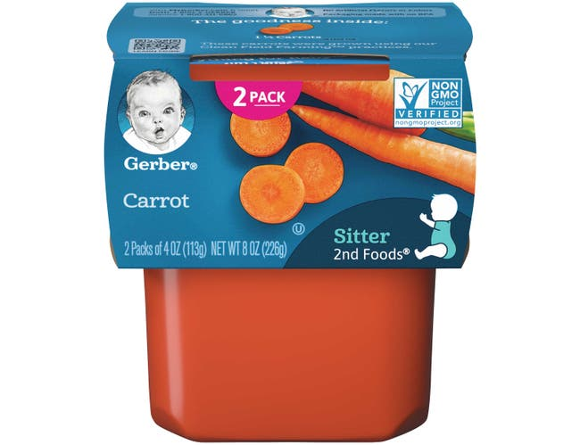 Gerber 2nd Foods Carrot Baby Food, 8 Ounce -- 8 per case.