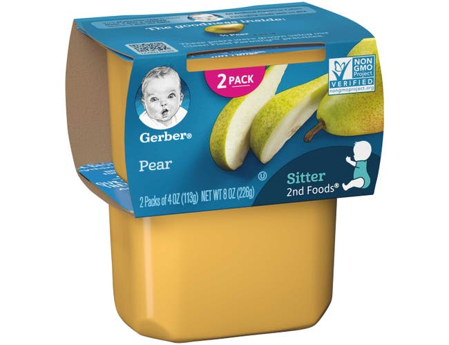Gerber 2nd Foods Pear Baby Food, 8 Ounce -- 8 per case.