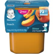 Gerber 2nd Foods Peach Baby Food, 8 Ounce -- 8 per case.