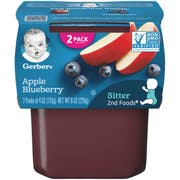 Gerber 2nd Foods Apple Blueberry Baby Food, 8 Ounce -- 8 per case.