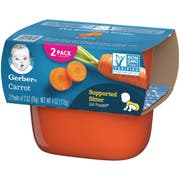 Gerber 1st Foods Carrot Baby Food - Multi Pack, 4 Ounce Tub -- 8 per case.