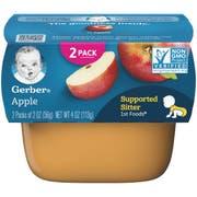 Gerber 1st Foods Apple Baby Food - Multi Pack, 4 Ounce Tub -- 8 per case.