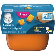 Gerber 1st Foods Butternut Squash Baby Food - Multi Pack, 4 Ounce Tub -- 8 per case.