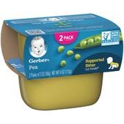 Gerber 1st Foods Pea Baby Food - Multi Pack, 4 Ounce Tub -- 8 per case.