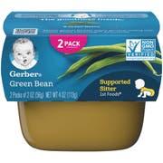 Gerber 1st Foods Green Bean Baby Food - Multi Pack, 4 Ounce Tub -- 8 per case.