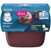 Gerber 1st Foods Prune Baby Food - Multi Pack, 4 Ounce Tub -- 8 per case.