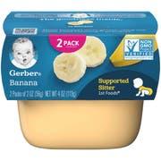 Gerber 1st Foods Banana Baby Food - Multi Pack, 4 Ounce Tub -- 8 per case.