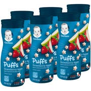 Gerber Puffs Apple Strawberry Baby Snack, 1.48 Ounce -- 6 per case.