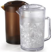 GET Enterprises SAN Amber Pitcher with Lid, 64 Ounce -- 12 per case