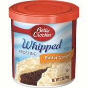 Betty Crocker Whipped Butter Cream Frosting, 12 Ounce -- 8 per case.