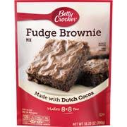 Betty Crocker Fudge Brownie Mix, 10.25 Ounce -- 6 per case.