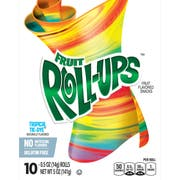 Fruit Roll-Ups Tropical Tie Dye Fruit Flavored Snack, 5 Ounce -- 10 per case.