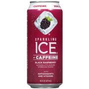 Sparkling Ice Caffeine Black Raspberry Sparkling Water, 16 Fluid Ounce Can -- 12 per case.