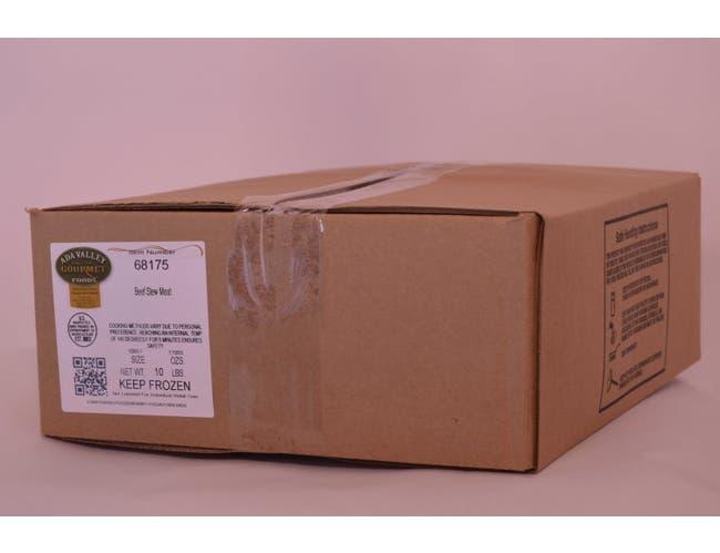 Ada Valley Gourmet Foods Beef Stew Meat 3/4, 5 Pound -- 2 per case.