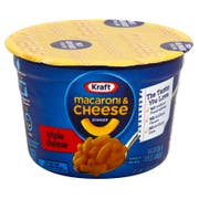 Kraft Entree Macaroni and Cheese Easy Triple Cheese Flavor Macaroni Cup, 2.05 Ounce -- 10 per case.