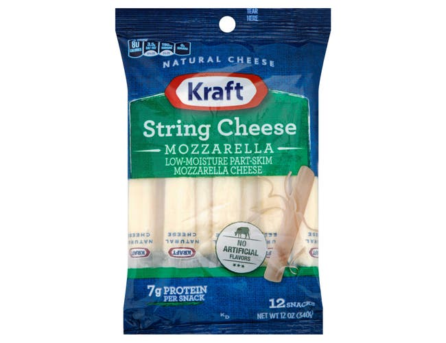 Kraft Natural String Cheese, 12 Ounce -- 12 per case.