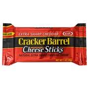 Kraft Cracker Barrel Cheese Stick - Extra Sharp Cheddar - 1 Ounce,14 per pack -- 6 packs per case.