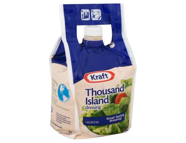 Kraft Thousand Island Dressing, 1 Gallon -- 4 per case.