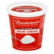 Breakstone's All Natural Sour Cream, 8 ounce -- 12 per case