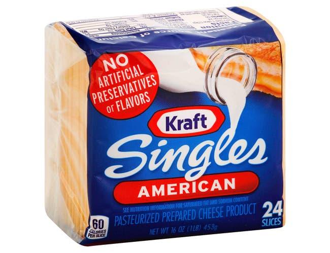 Kraft Singles American Sliced Cheese, 16 Ounce -- 36 per case.