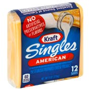 Kraft American Sliced Cheese, 8 Ounce -- 12 per case.