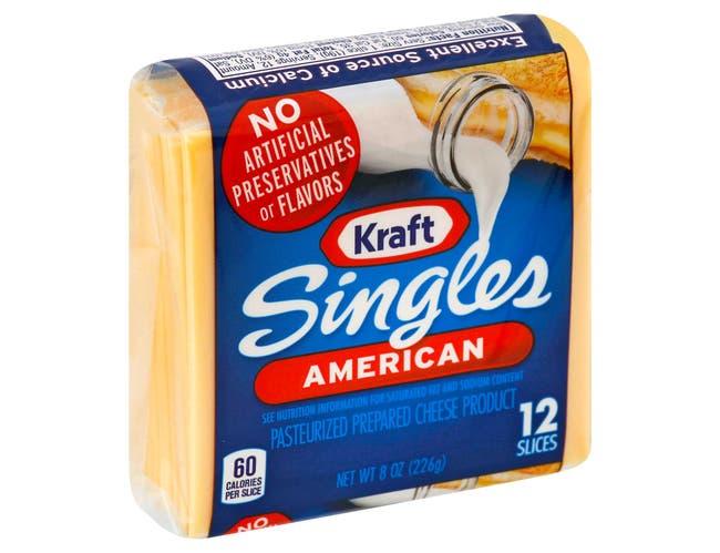 Kraft American Sliced Cheese, 8 Ounce -- 12 per case.