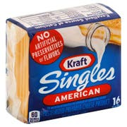 Kraft Individually Wrapped American Cheese Singles, 12 Ounce -- 12 per case