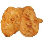 Tyson Red Label Select Cut Golden Crispy Breaded Chicken Breast Portioned Filet, 3.5 Ounce -- 2 per case.
