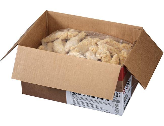 Tyson Red Label Premium Homestyle Uncooked Breaded Chicken Breast Tenderloin, 5 Pound -- 2 per case.