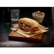 Tyson Fully Cooked Right Size Select Cut Breaded Nashville Hot Chicken Breast Filet, 3 Ounce -- 64 per case.