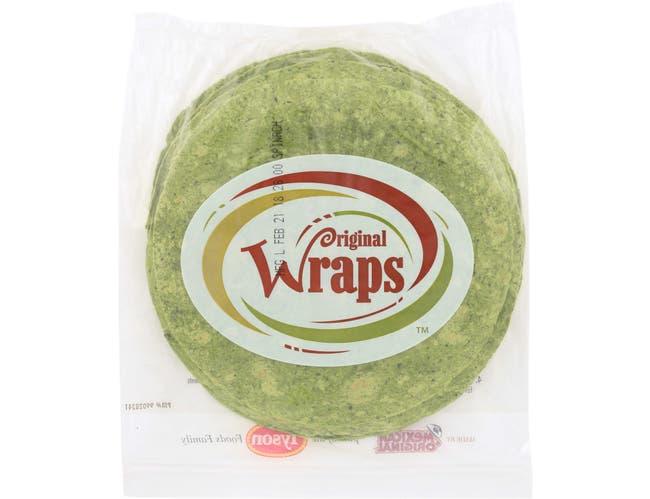 Mexican Original Wraps Spinach Tortilla, 44 Ounce -- 12 per case.